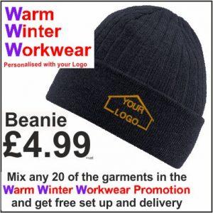 Warm Winter Workwear Promotion Beanie