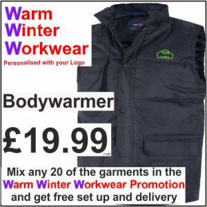 Warm Winter Workwear Promotion Bodywarmer