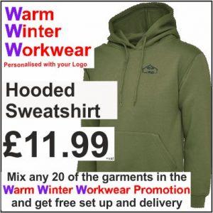 Warm Winter Workwear Promotion Hooded Sweatshirt
