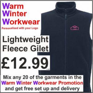 Warm Winter Workwear Promotion Lightweigt Fleece Gilet