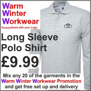 Warm Winter Workwear Promotion Long Sleeve Polo Shirt