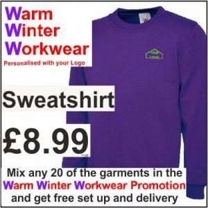 Warm Winter Workwear Promotion Sweatshirt