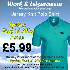 Spring Pick n Mix Jersey Knit Polo Shirt