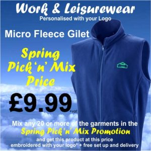 Spring Pick n Mix Micro Fleece Gilet