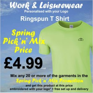 Spring Pick n Mix Ringspun t Shirt