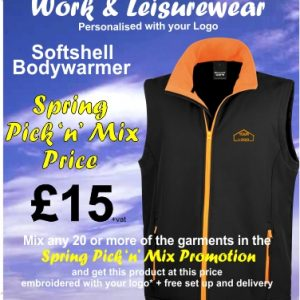 Spring Pick n Mix Softshell Bodywarmer