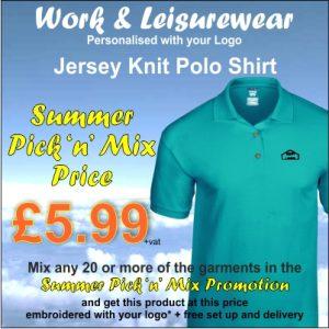 Summer Pick n Mix Jersey Knit Polo Shirt