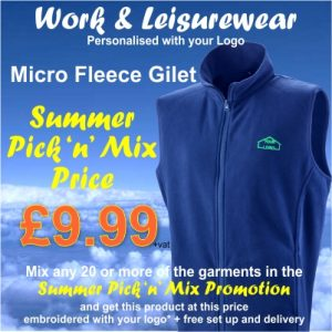 Summer Pick n Mix Micro Fleece Gilet