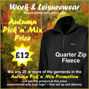Autumn Pick n Mix Full Zip Fleece