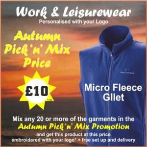Autumn Pick n Mix micro fleece gilet
