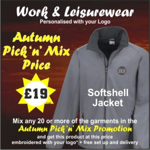 Autumn Pick n Mix softshell jacket